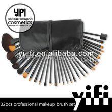 Pro 32pcs Makeup Brushes Set High Quality Blush Leather Case, 8pcs makeup brush