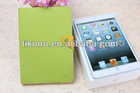 Colorful pu leather stand cover case for ipad mini PU+TPU