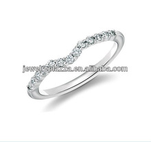 2013 Fashion Silver Jewelry,Classic Curved Diamond Wedding Ring