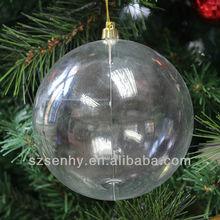Decorative 10cm christmas decorations clear plastic balls