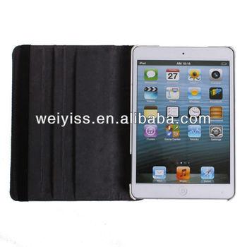 Quality New Leopard Pattern PU & Plastic Leather Protective Folio for iPad Mini