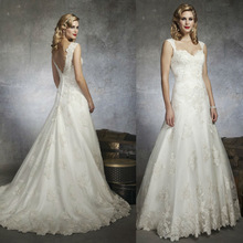2013 Elgant A-line off-shouders Sweetheart lace wedding dress for Spring and Summer