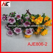 Silk flower bushes artificial peach blossom hot pink daisy flower