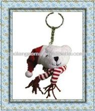 Christmas Plush Toys Bear Keychain
