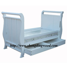 modern wooden Solid pine baby bed
