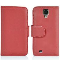 Credit Card slot wallet leather case for samsung galaxy s4, for samsun s4 leather case