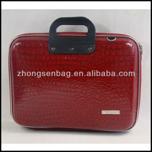 2013 Leather laptop bag of snake skin pattern
