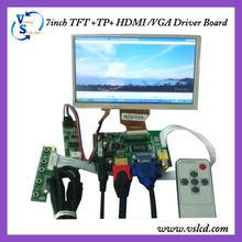 HDMI lcd controller board ,7inch tft lcd 800x480 resolution with HDMI /VGA/2AV input