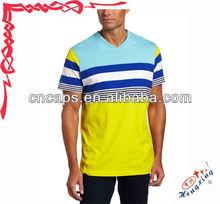 Popular v neck half sleeve mens sports t shirt