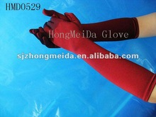 2013new fashion satin arm length gloves