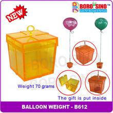 B612 Plastic giftbox balloon weight