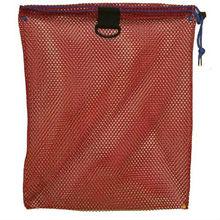 red nylon mesh drawstring bag with holder promotional nylon mesh bag
