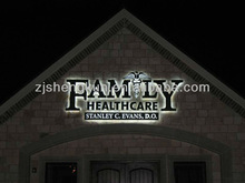 Outdoor Waterproof Backlit&Frontlit Metal Sign (Stainless Steel )