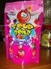 Lollipop Caramel Candy--SOUR BOMB COLOR 250 g in Bag