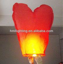 Flame resistant paper floating wish lanterns