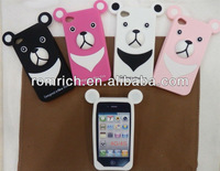 For iphone 4 4G 4S 3D cute cartoon big nose tiger soft silicone case lovely funny cover