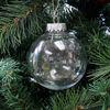 Seamless 8cm christmas decorations clear plastic balls