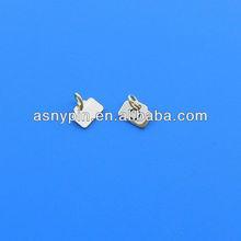 logo stamped metal pendant