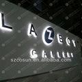 recepção de nome da empresa logo led sinal