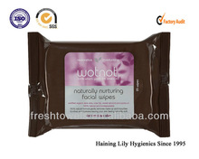 Disposable natural Makeup remover wet wipes/tissues/towels feminine wipes for sensitive skin