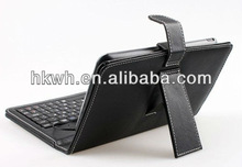 For ipad leather case with USB Cable+Keyboard briefcase