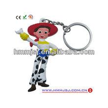 mobile phone doll key chain