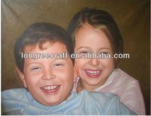 Artistic Children Oil Painting Portrait
