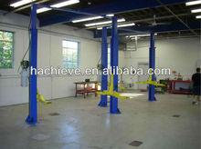 2 poles washing car ramp used in workshop center