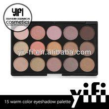 Professional! 15W eyeshadow palette high quality empty eyeshadow compact