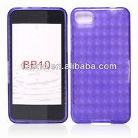 Transparent TPU case for blackberry Z10 BB10 with diamond pattern shape