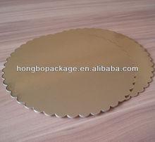 round gold/silver cake platter