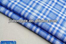 100% cotton jacquard check shirting fabric