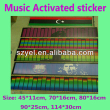 2013 The most popular Football Club EL Car Stickers Sound Activated online shopping