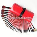 red caso 30 pincéis de maquiagem pcs conjunto design da loja de cosméticos
