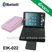 Hot sale for ipad mini bluetooth keyboard case ,bluetooth leather keyboard case for ipad miniMini