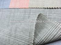 yarn dyed 55%linen 45%cotton lady wear fashion fabric