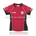 de poliéster transpirable unisex rojo uniformes de fútbol para los niños