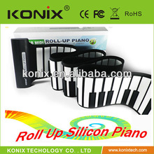 Portable and Silicone flexible USB Midi Roll Up 88 Keys Piano Electronic keyboard for Children's Day gift on hot sale