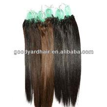 China Wholesale Cheap Brazilian Human Hair Grade AAAAA Quality 1 Gram Virgin Micro Ring Hair Extensions