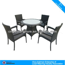 HM- Rattan dinning table and chairs 2048+2042