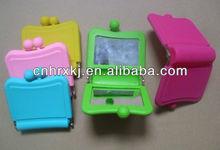 Portable Pocket Silicone Mini Cosmetic Mirror,Compact Silicone Mirror Purse