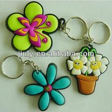 lovely soft pvc flower key chain