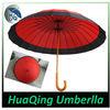 24k Auto Open Japanese Umbrella With Wood Handle