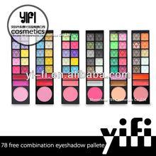 Hot!78New Color Eyeshadow Blush Powder yellow eye shadow