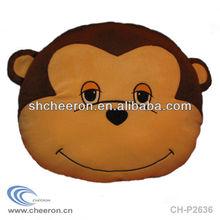 Plush monkey cushion