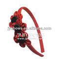 La moda coreana accesorio para el pelo de los cabritos - Grosgrain rosa banda para el cabello - Handmaking hairband para la señora