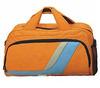 cheap 600d orange color polyester duffle travel bag
