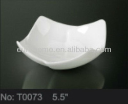 wholesale restaurant white porcelain ice cream bowls for hotel