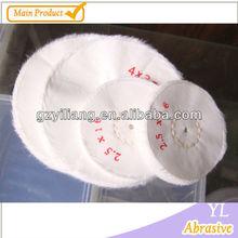 100mm 100% White Bleached /white / bleached white / cotton buffing cloth /pure / Jewel wheel /non stitch buffs