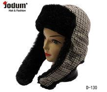 030 Fashion Winter Hats With Long Earflap Warm Faux Fur